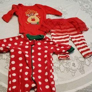 Baby girl christmas lot